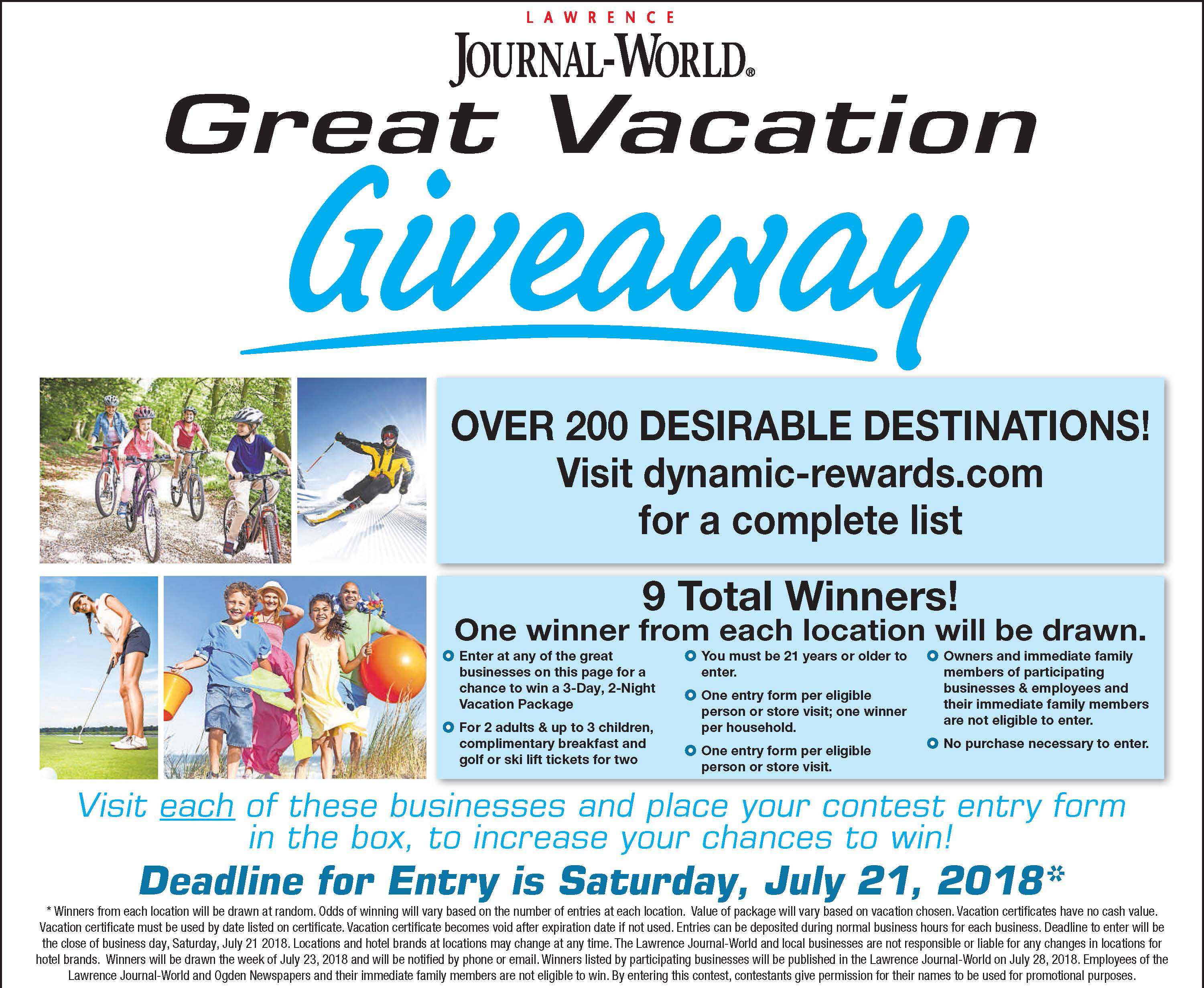 Vacation Giveaway