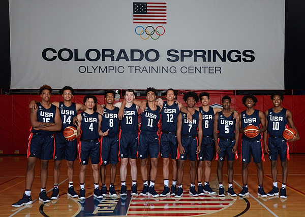 The 12-man U18 USA Basketball team that won gold at the FIBA Americas tournament in Canada in June. (Photo courtesy USA Basketball)