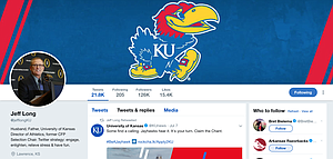 New KU AD Jeff Long's Twitter page.