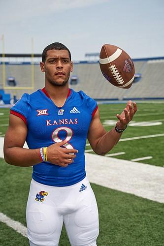 University of Kansas quarterback Miles Kendrick
