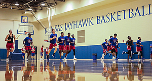 Monday, Sept. 17, 2018, was a feet-shuffling, legs-turning, lungs-working-overtime kind of morning for the members of the Kansas basketball program, who kicked off another year of Bill Self boot camp at 6 a.m., at the Jayhawks' practice gym.