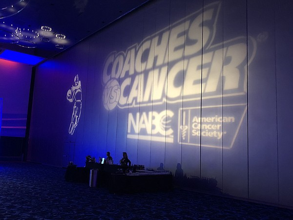 Thursday's 11th annual Coaches vs. Cancer Season Tipoff reception at the Grand Ballroom at Bartle Hall in Kansas City, Mo., once again featured KU coach Bill Self as one of the featured speakers.