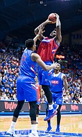 KU center Udoka Azubuike attempts a shot in the lane at Late Night in the Phog on Friday, Sept. 28, 2018 at Allen Fieldhouse.