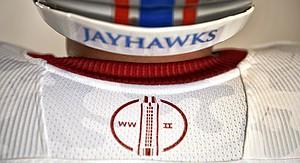 KU football alternate uniforms to honor World War II veterans ... 4b5c01f7f