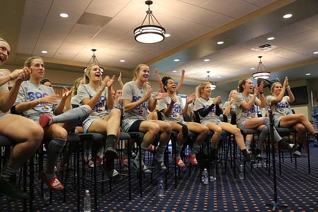 The University of Kansas women's soccer team finds out it will play host to Saint Louis in the NCAA tournament Monday afternoon. Kansas plays host to Saint Louis at 7 p.m. Friday in the first round.