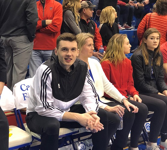 Matthew Hurt during his official visit to Kansas