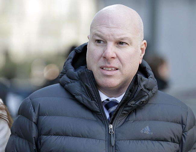 Former Adidas executive James Gatto arrives to court for sentencing in New York on Tuesday, March 5, 2019.