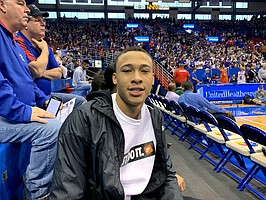 R.J. Hampton during his official visit to Kansas