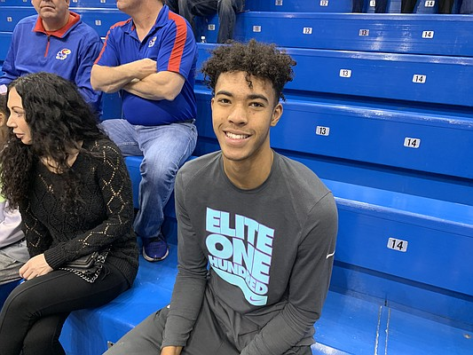 Isaiah Cottrell during his official visit to Kansas