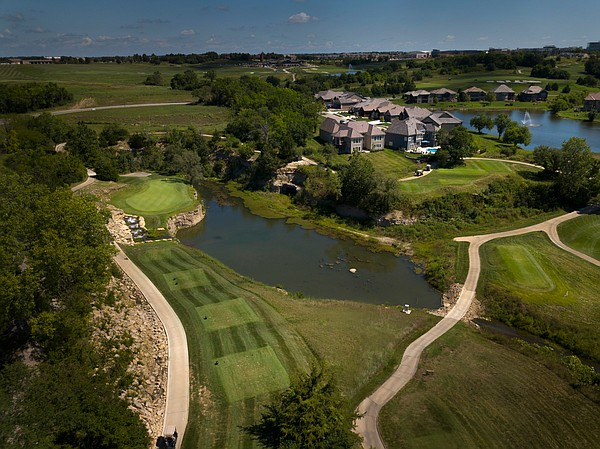 The picturesque 3rd hole at Canyon Farms Golf Club in Lenexa.