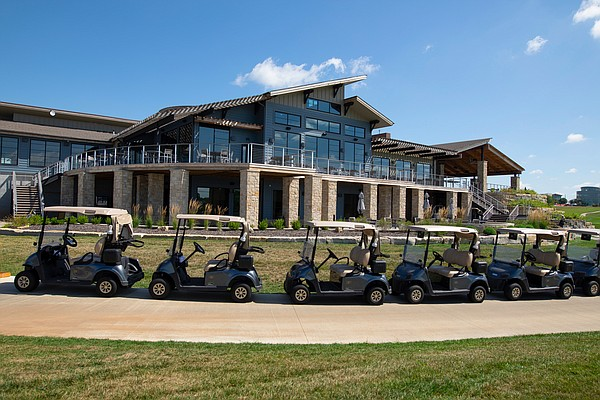 Towering over the Canyon Farms Golf Course to the north, this clubhouse, which is now about a year old, is every bit as eye-catching as any of the 18 holes it overlooks.