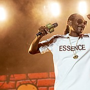 Snoop Dogg performs at the 2018 Essence Festival at the Mercedes-Benz Superdome on Friday, July 6, 2018, in New Orleans. (Photo by Amy Harris/Invision/AP)
