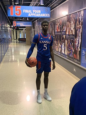 New Kansas commitment Tyon Grant-Foster on his official visit to KU