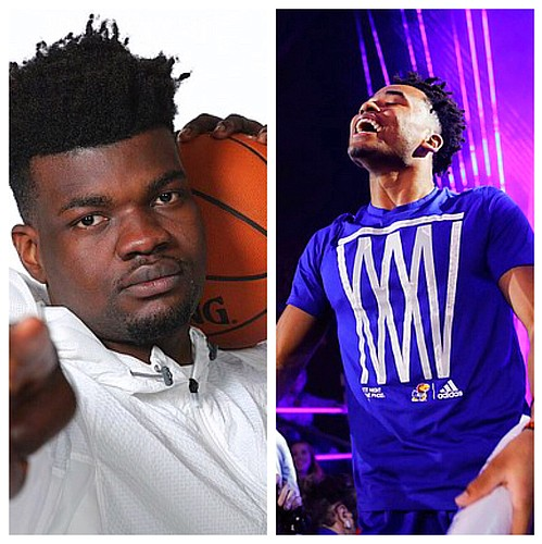 KU's Udoka Azubuike, left, and Devon Dotson are two of the top candidates for 2019-20 Big 12 Player of the Year.