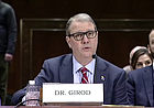 University of Kansas Chancellor Douglas Girod testifies at a congressional hearing on Tuesday, Feb. 11, 2020, that KU would support the opportunity for student-athletes to earn money through their name, image and likeness.