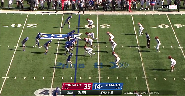 A look at Jacobi Lott about to pull vs. Iowa State during the 2020 season.