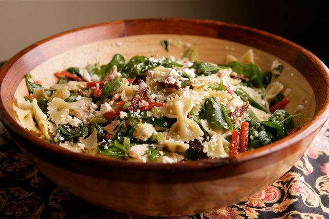 Warm Pasta Salad with Tuna, Sun-dried Tomatoes and ...