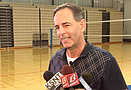 Kansas volleyball coach Ray Bechard, in his 18th season with the Jayhawks, ...