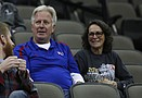 Terry and Laurie Anderson, of Lincon, Nebraska watch their daughter Maggie Anderson ...