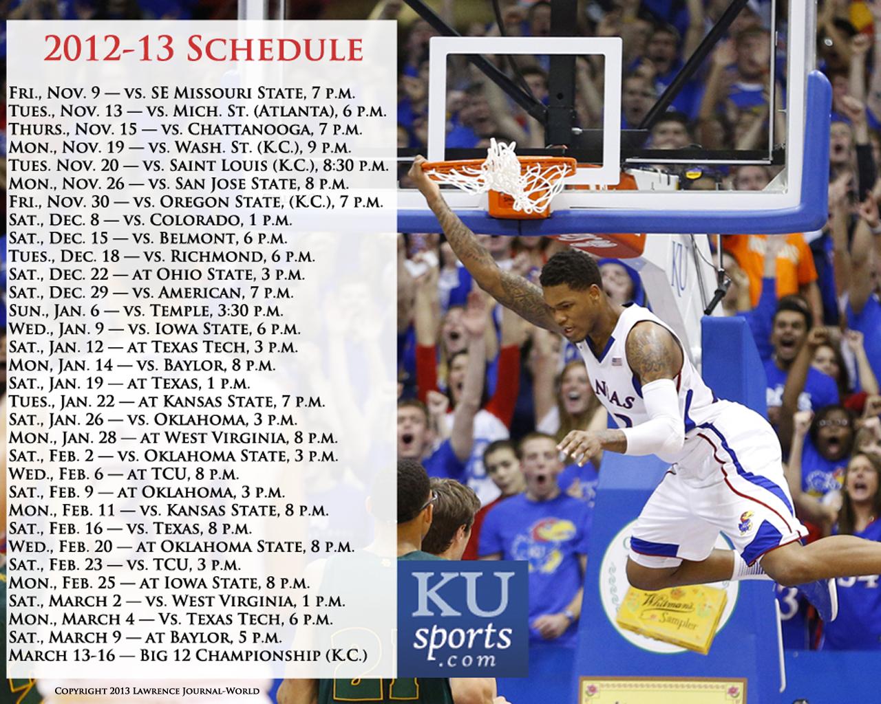2012-13 kansas men's basketball wallpapers   kusports