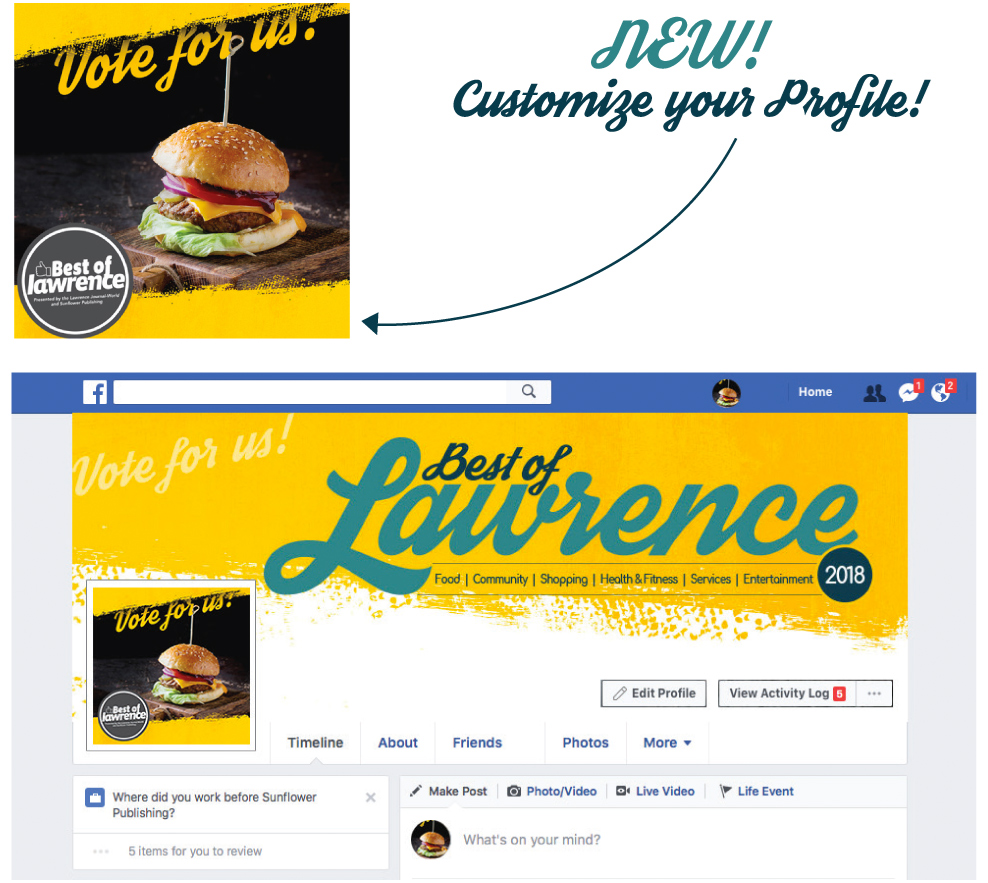 Best of Lawrence 2018 Facebook profile photo frames