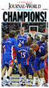 Front page of the championship newspaper reprint