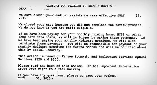 The Kansas Department of Children and Families says a computer glitch resulted in thousands of Kansans receiving letters telling them in error that their Medicaid coverage had been cancelled.